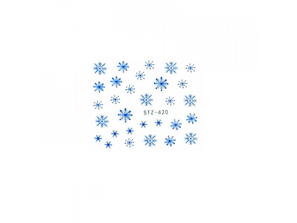 1645 cutenails vodolepky modre vlocky
