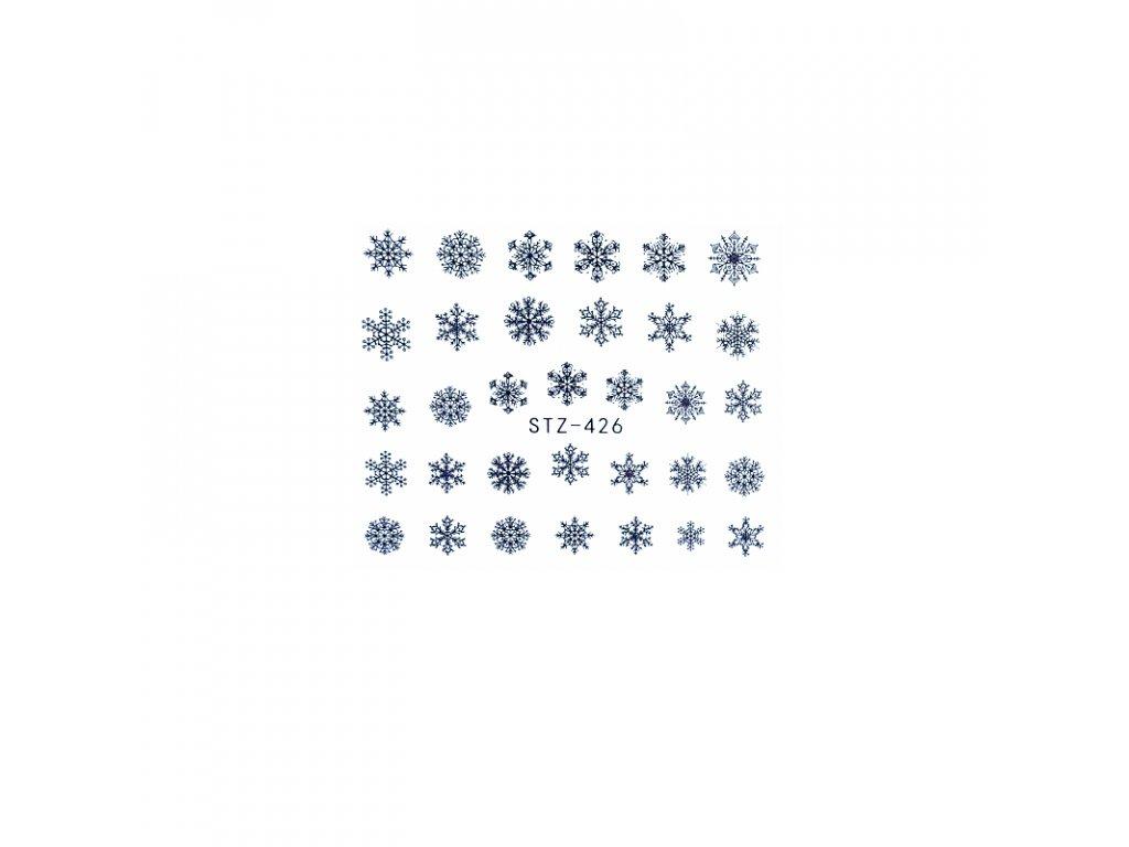 1651 cutenails vodolepky cerne vlocky