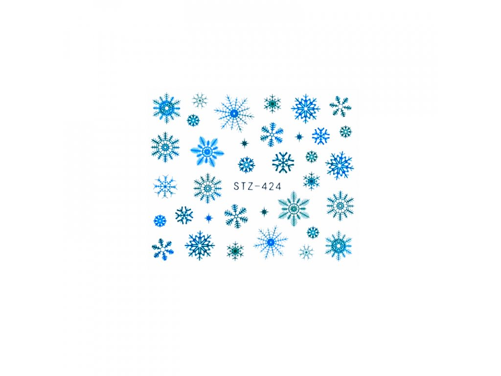 1660 cutenails vodolepky modre vlocky