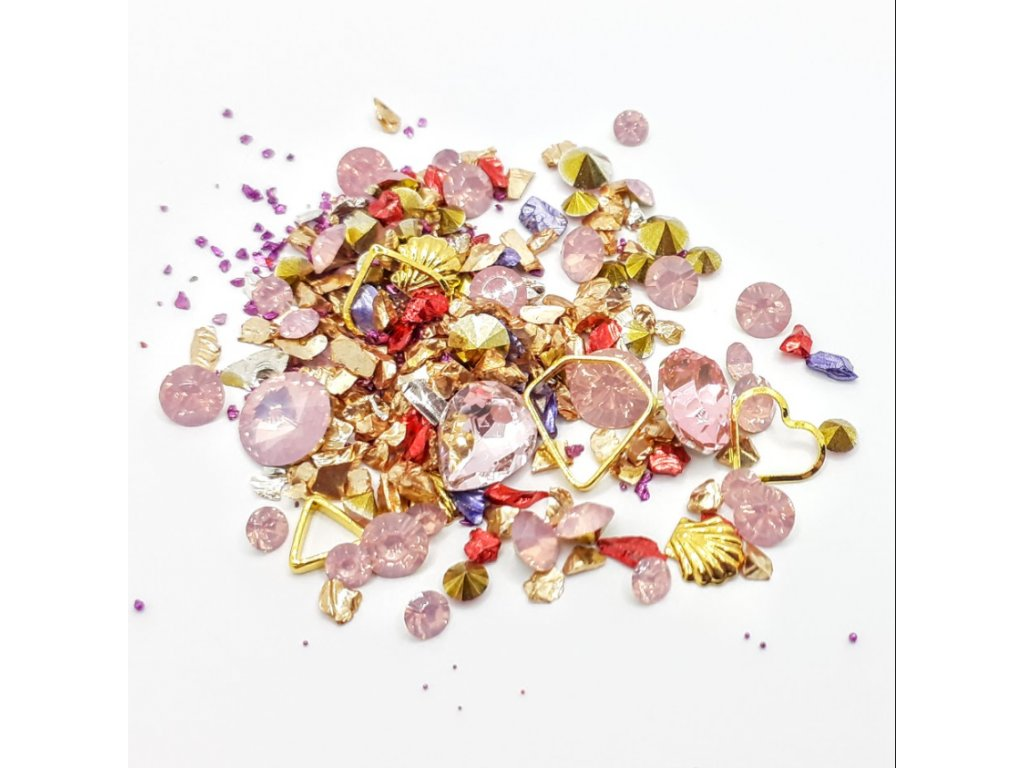 1687 cutenails luxusni nehtova bizuterie pink beach