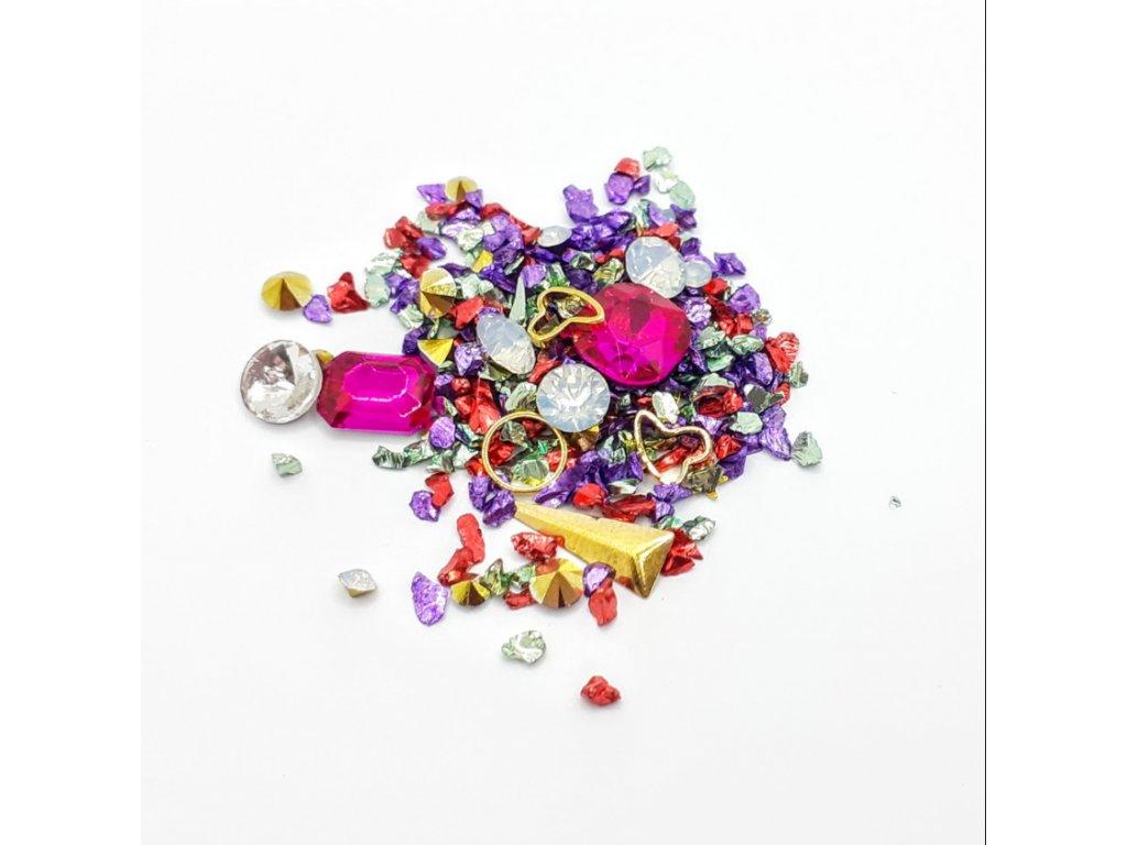 1693 cutenails luxusni nehtova bizuterie pink jewel