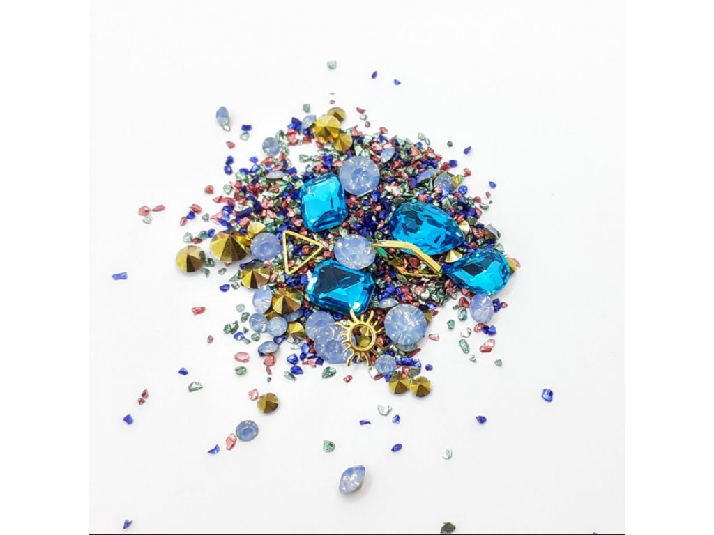 1696 cutenails luxusni nehtova bizuterie blue calm