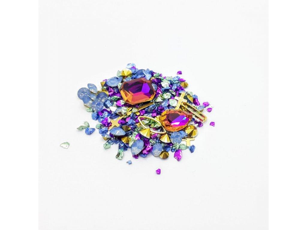 1705 cutenails luxusni nehtova bizuterie violet faith