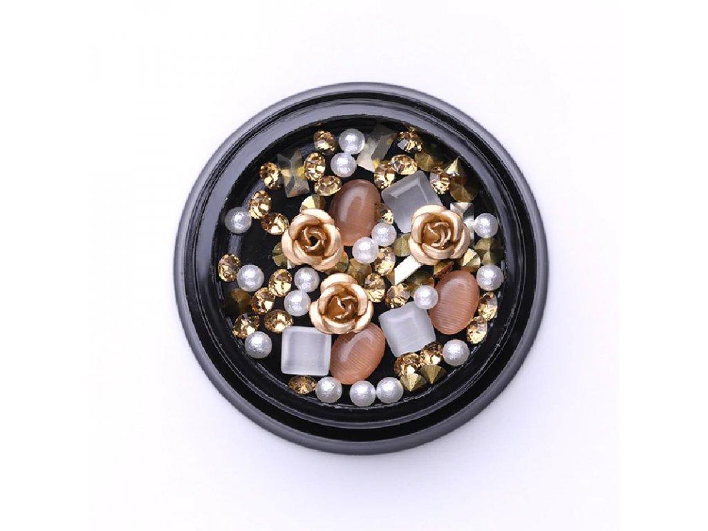 1717 cutenails luxusni nehtova bizuterie zlate ruze