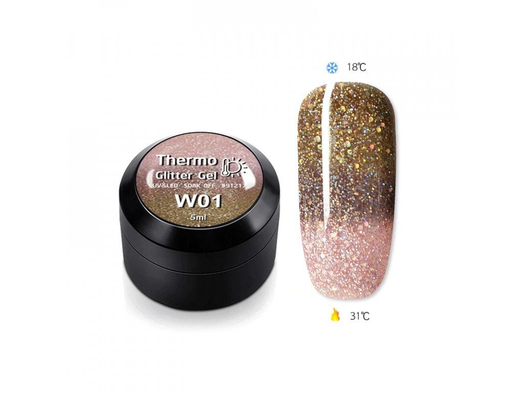 1822 gdcoco uv glitter thermo gel glitter of champagne