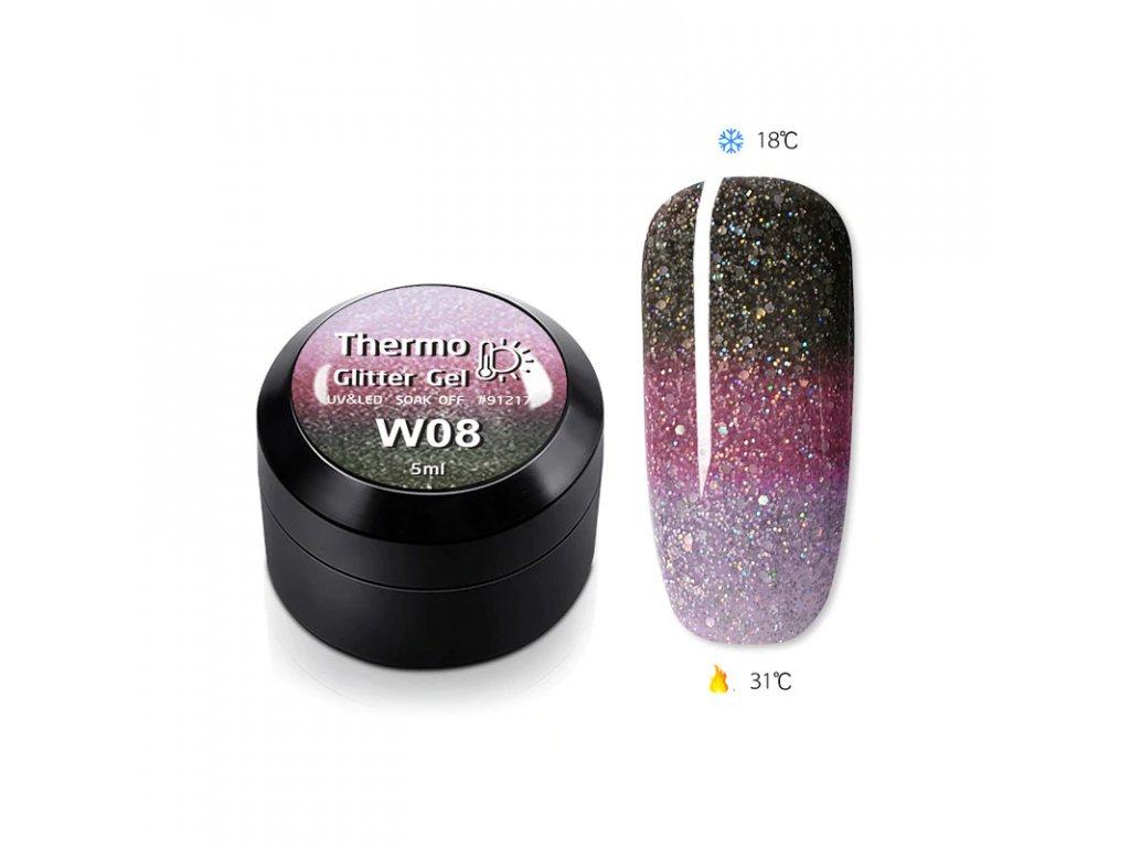 1837 gdcoco uv glitter thermo gel glitter of wine