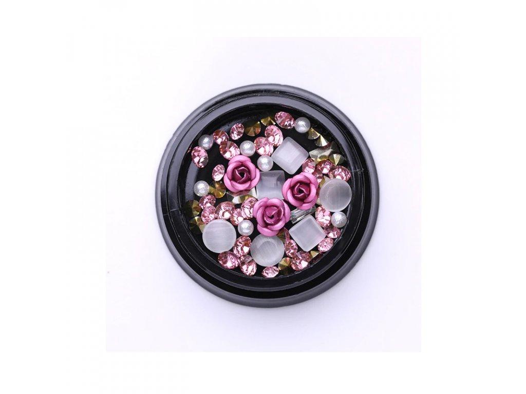 1852 cutenails luxusni nehtova bizuterie ruzove ruze
