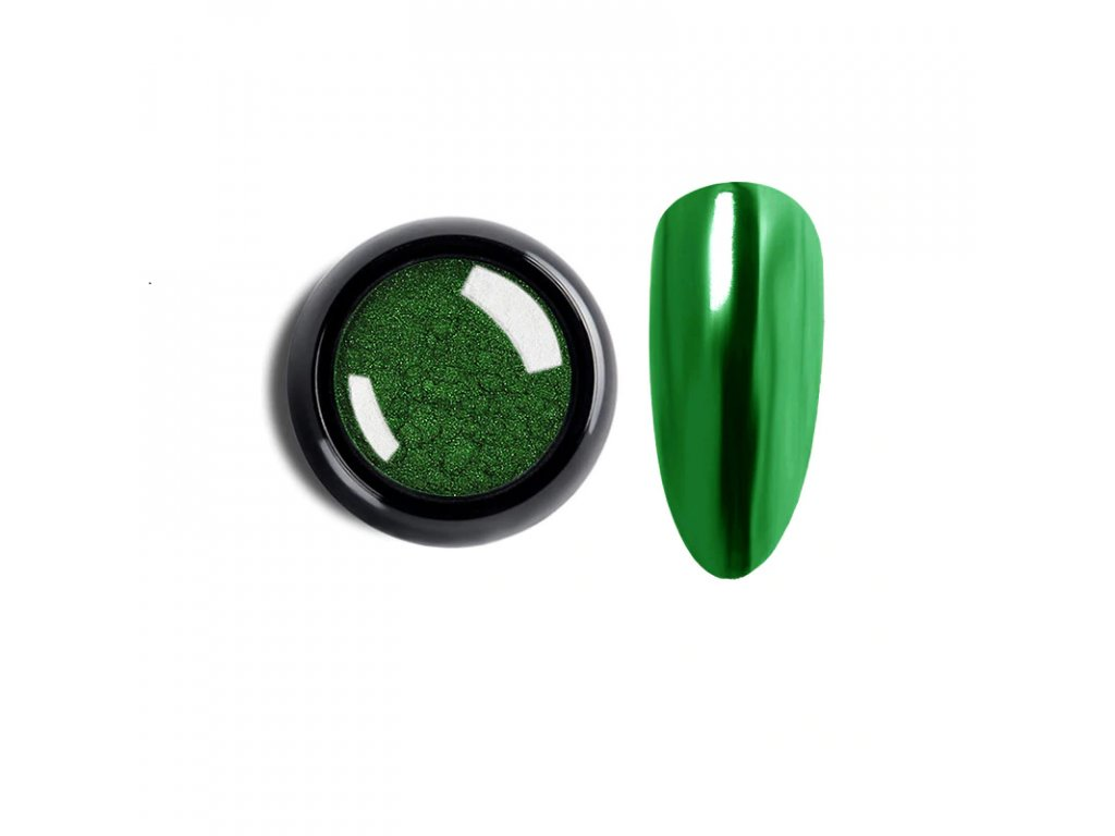 1861 cutenails lestici pigment chromatic mirror effect green