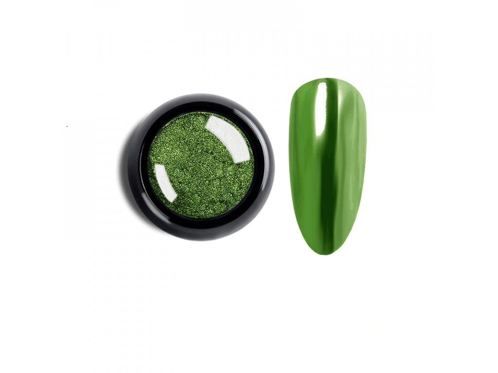 1870 cutenails lestici pigment chromatic mirror effect dark green