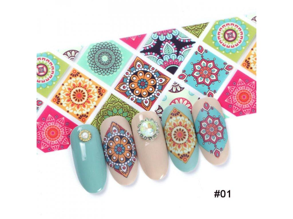 Ornamentové fólie na nehty - více druhů