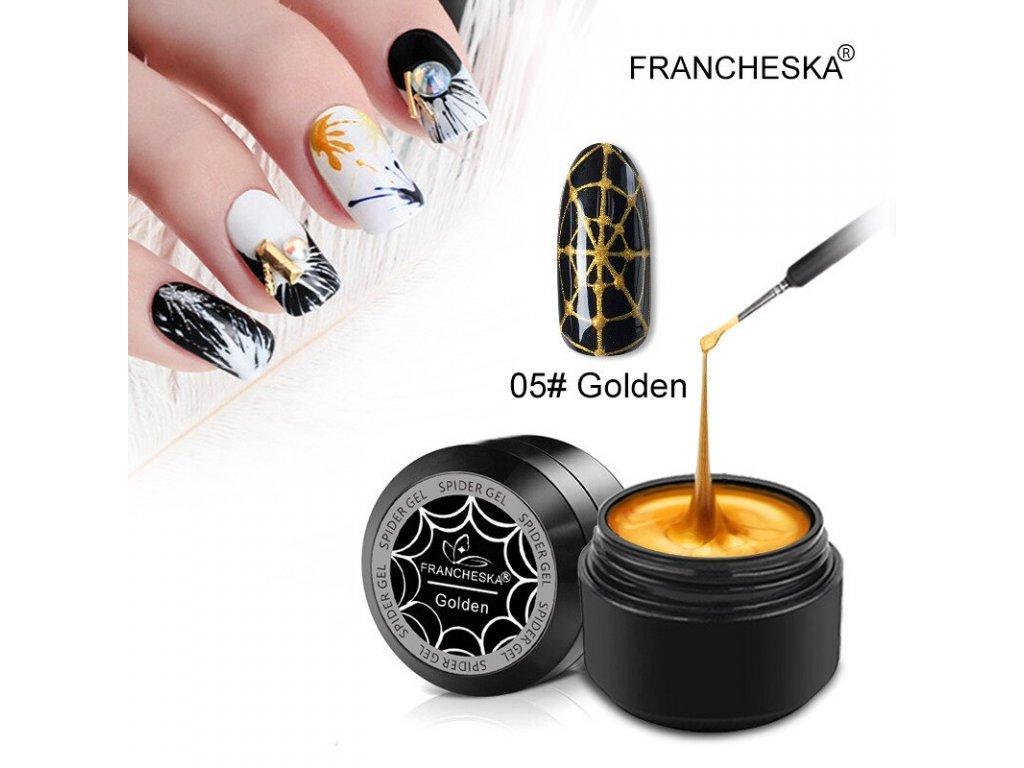 2191 francheska spider uv gel zlaty