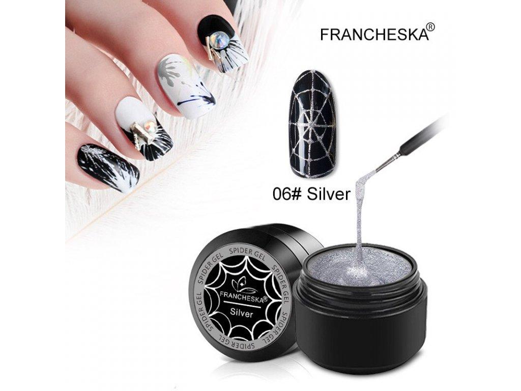 2194 francheska spider uv gel stribrny