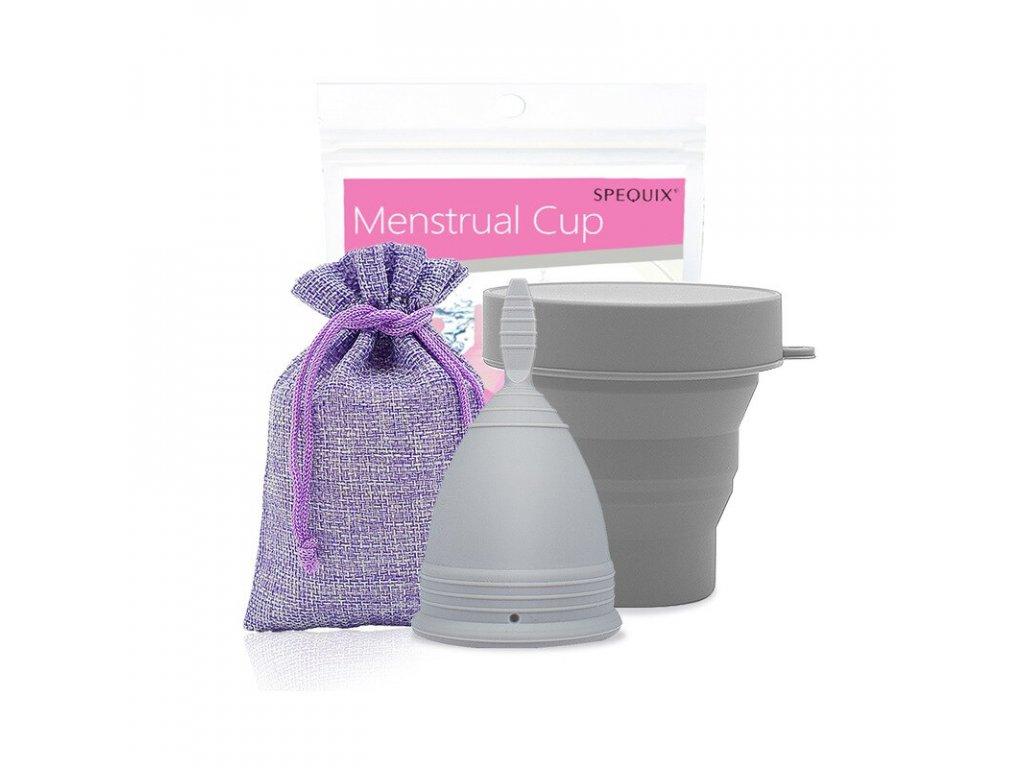 Menstruační kalíšek a Kelímek pro sterilizaci: Šedá