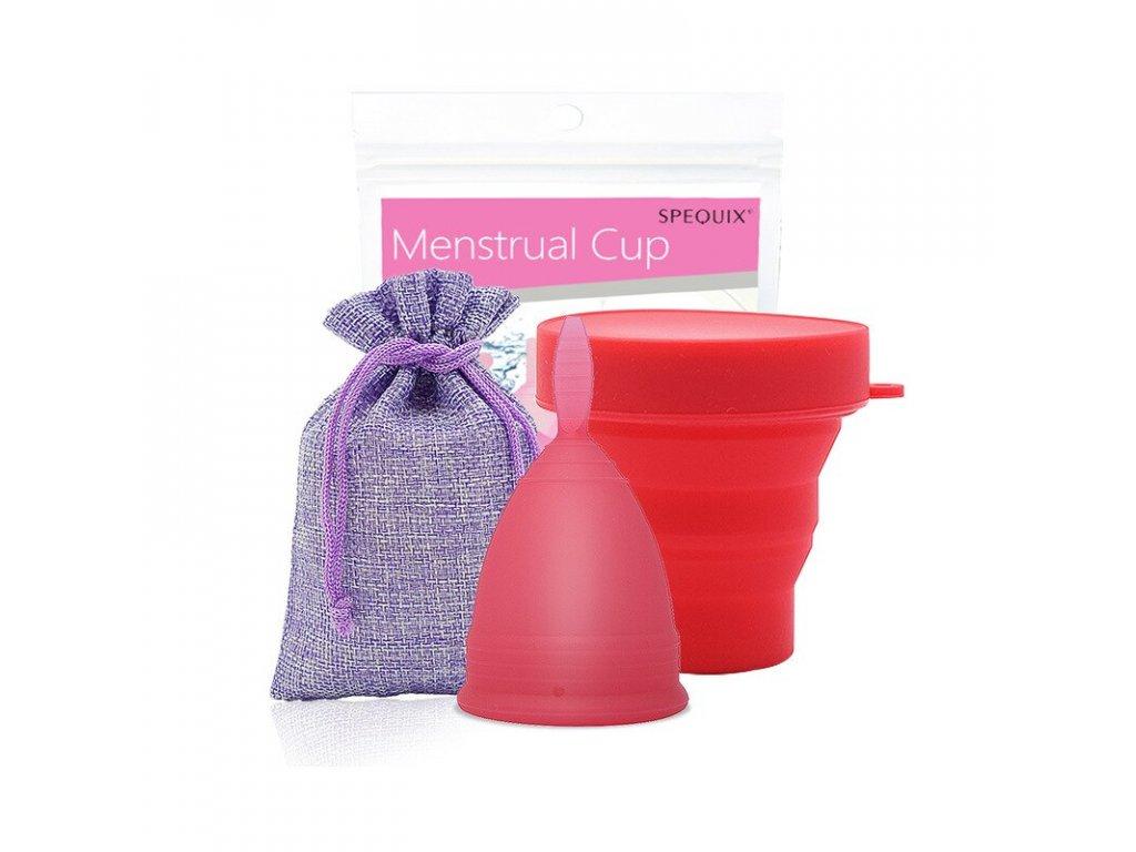Menstruační kalíšek a Kelímek pro sterilizaci: Červená