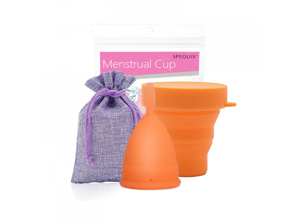 Menstruační kalíšek a Kelímek pro sterilizaci: Oranžová