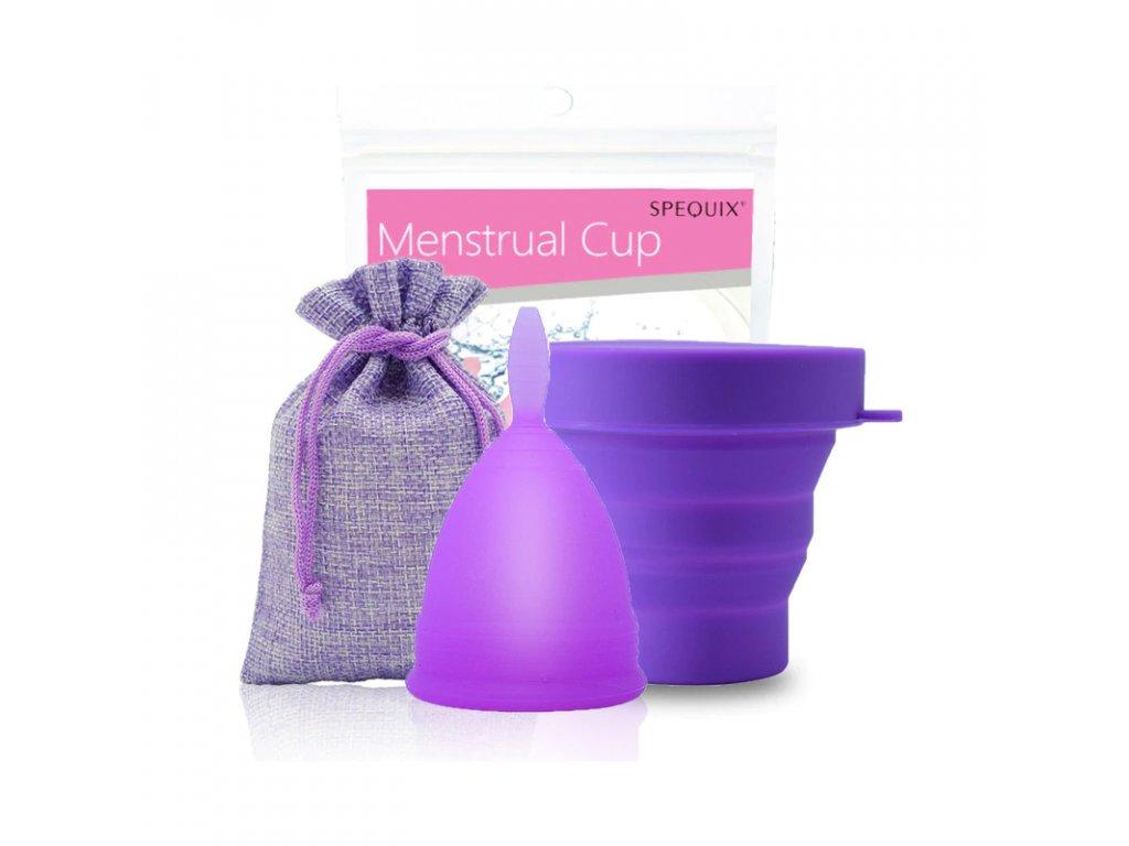 Menstruační kalíšek a Kelímek pro sterilizaci: Fialová