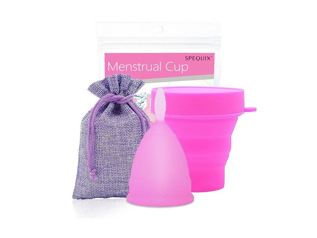 Menstruační kalíšek a Kelímek pro sterilizaci: Růžová