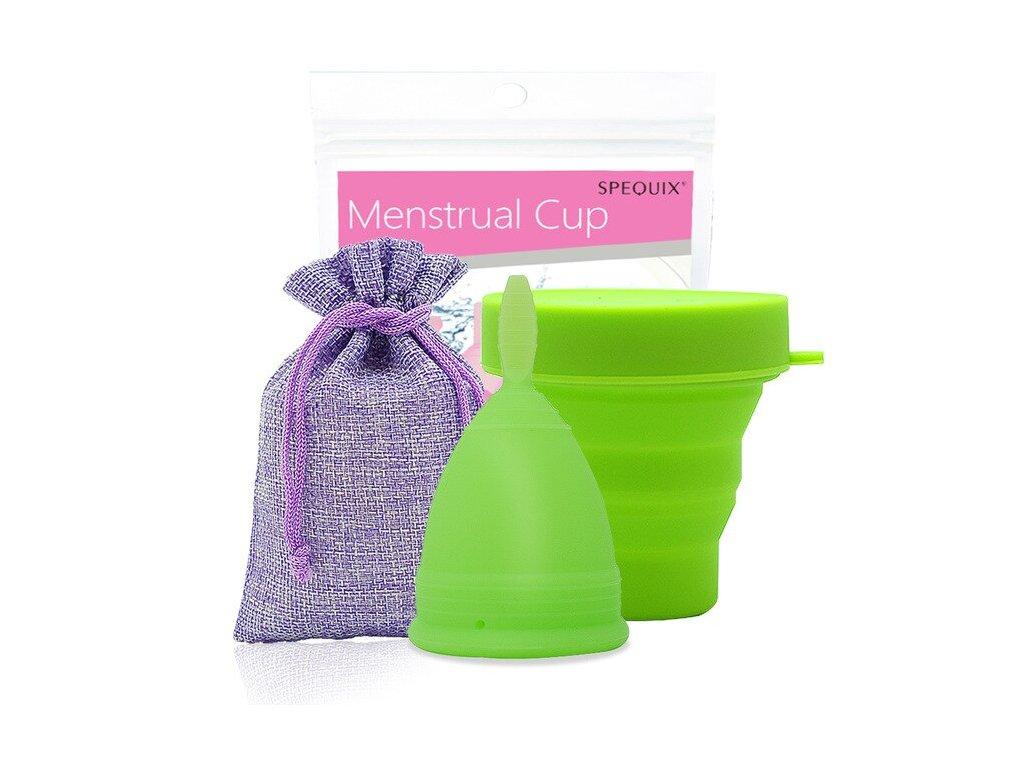 Menstruační kalíšek a Kelímek pro sterilizaci: Zelená