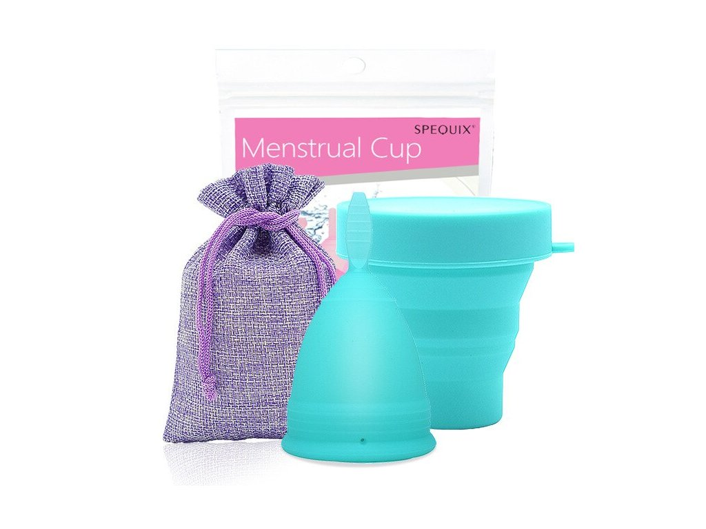 Menstruační kalíšek a Kelímek pro sterilizaci: Modrá
