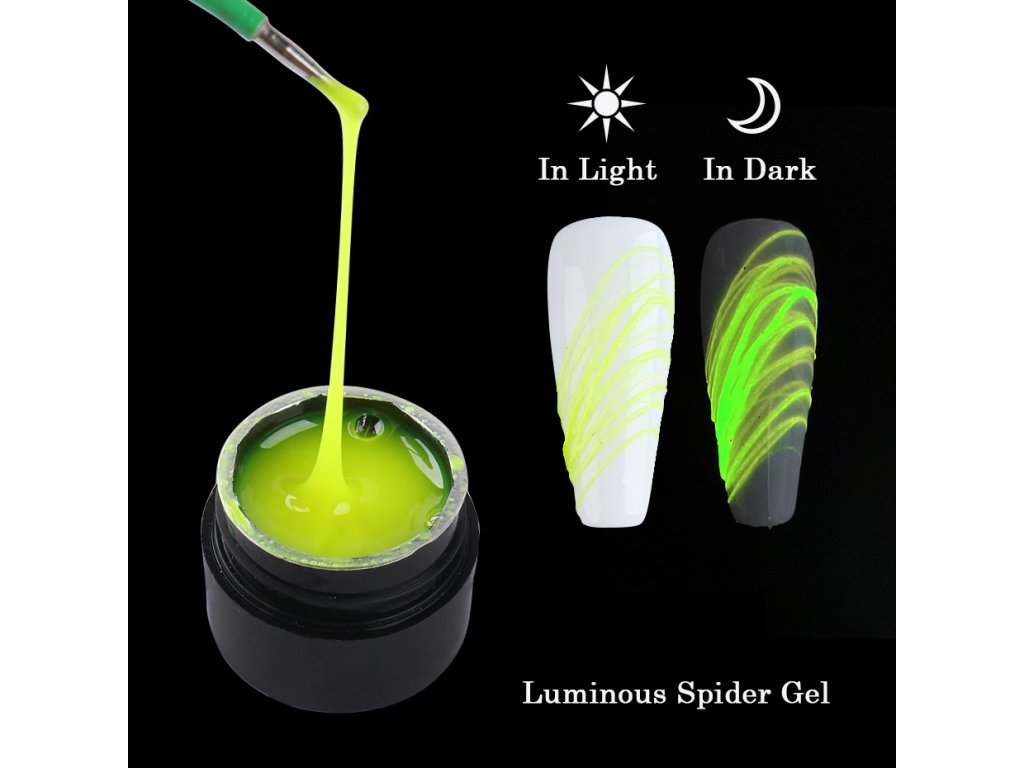 Spider UV gel svíticí: žlutý