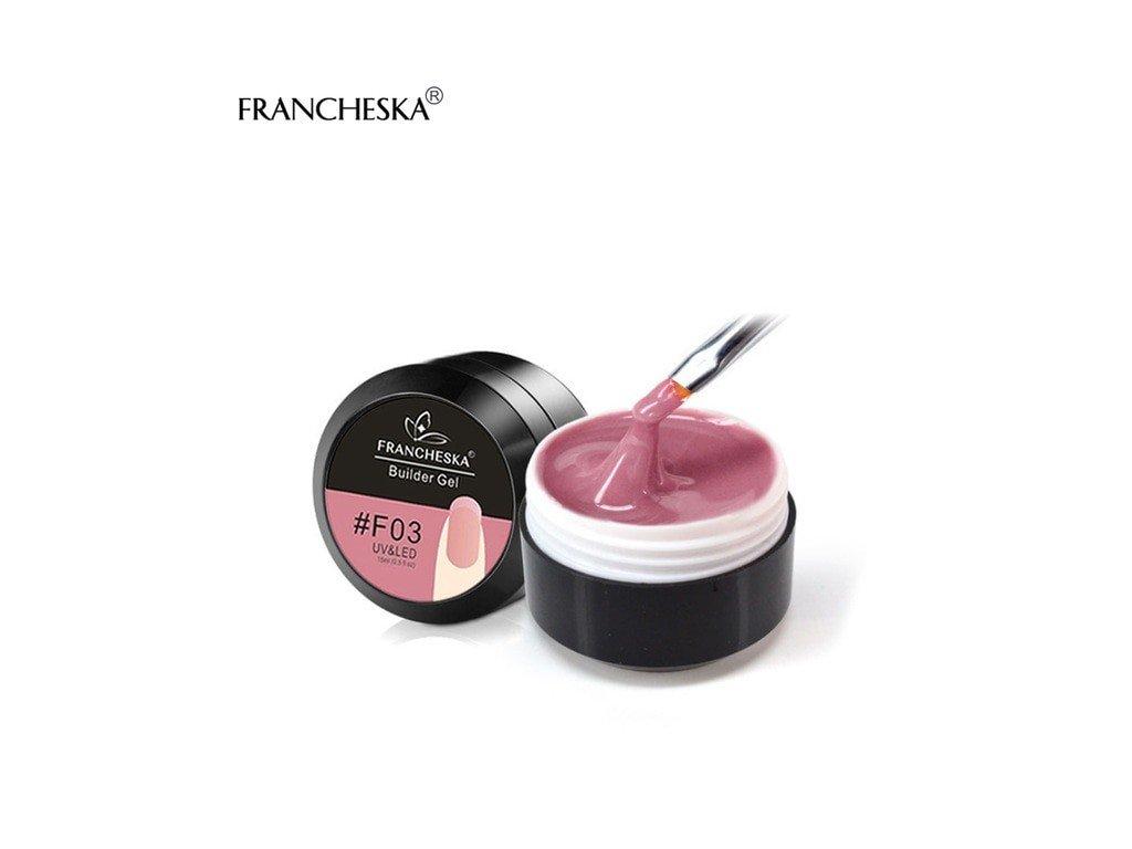403 francheska builder gel uv gel prodluzovaci mauve pink 15ml