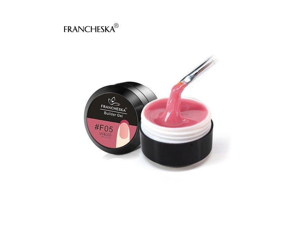409 francheska builder gel uv gel prodluzovaci hydragonia pink 15ml