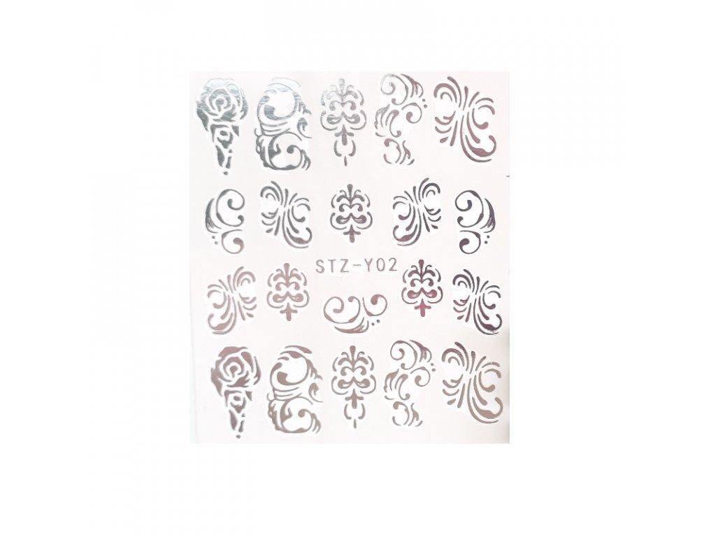829 cutenails vodolepky silver ornament