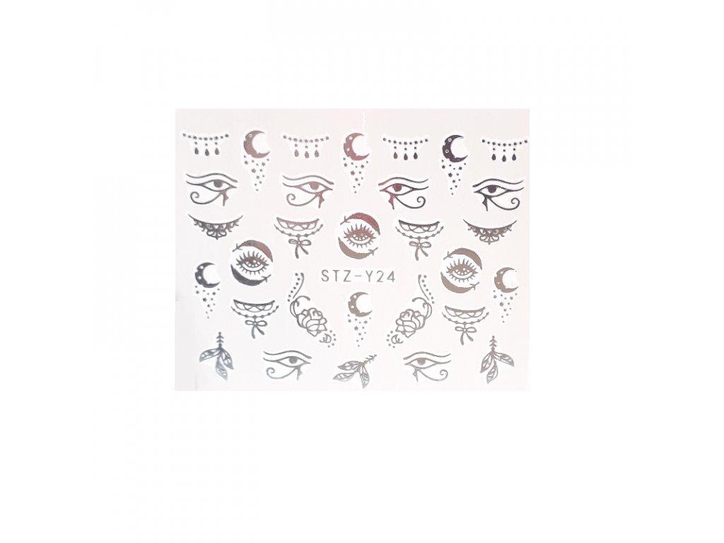838 cutenails vodolepky silver magic eye