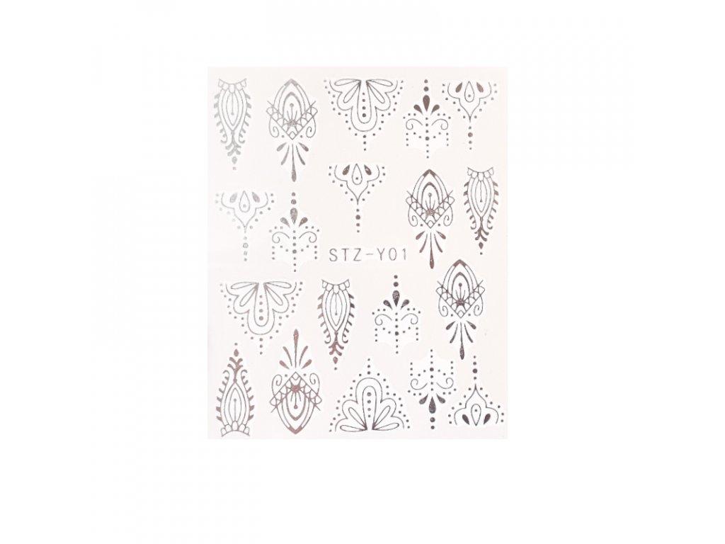 841 cutenails vodolepky silver ornament