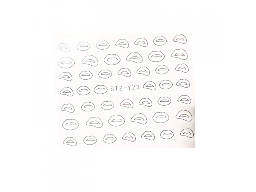 847 cutenails vodolepky silver lips