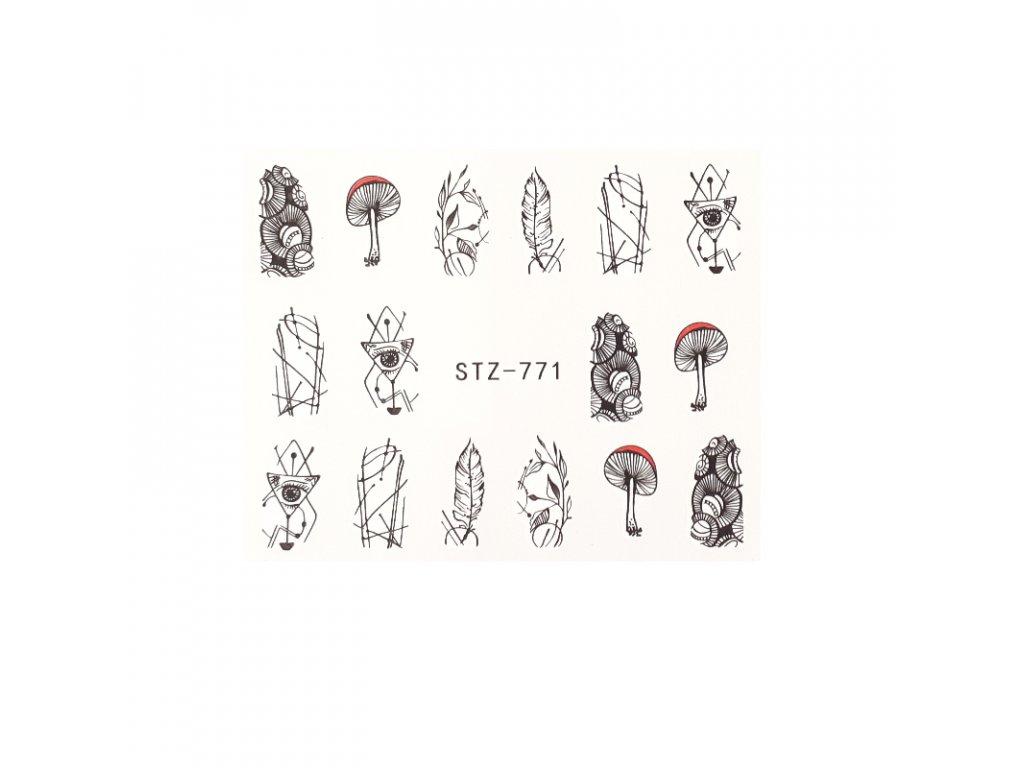 874 cutenails vodolepky forest boho