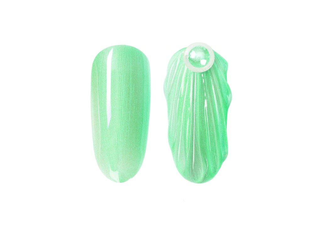 892 gdcoco uv gel pearl seashel green mermaid