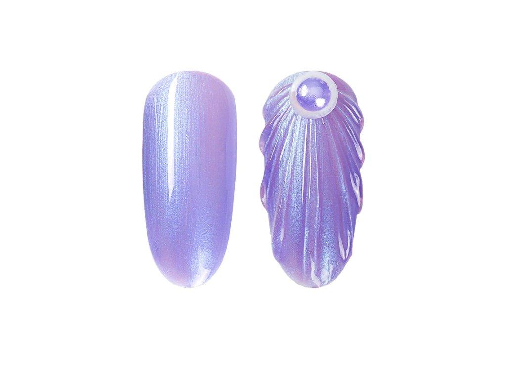 895 gdcoco uv gel pearl seashel violet mermaid