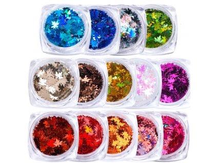 1171 full beauty dekorace holograficke listky vice druhu