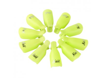 1450 cutenails klipy na nehty pro odstraneni gelu zelene 10 ks