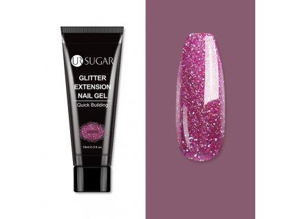 1993 sugar uv poly akrylgel 15ml dark pink glitter