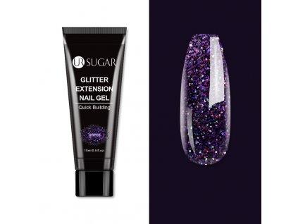 1996 sugar uv poly akrylgel 15ml dark violet glitter