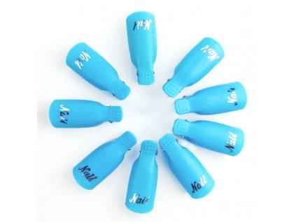 2128 cutenails klipy na nehty pro odstraneni gelu modre 10 ks