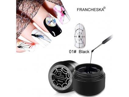 Spider UV gel: černý