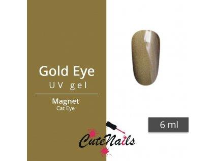 418 slygos magneticky uv gel 6ml gold eye