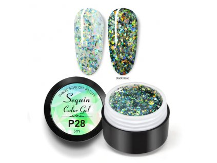 931 gdcoco uv gel platinum sequins mineral gleam