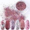 1168 full beauty dekorace 8 ks rose glitter