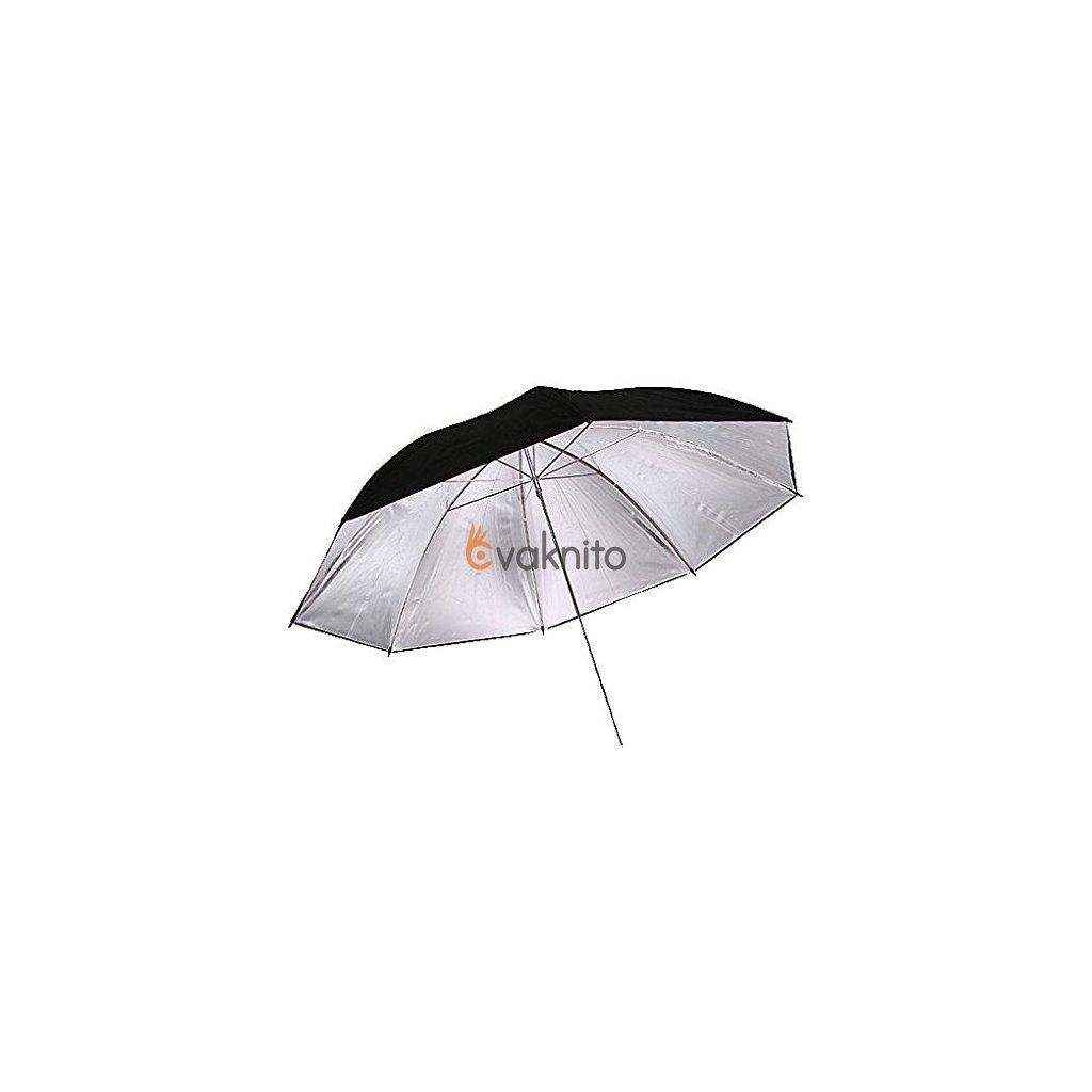 Reflexný dáždnik čierno / strieborný 101cm BRESSER SM-03