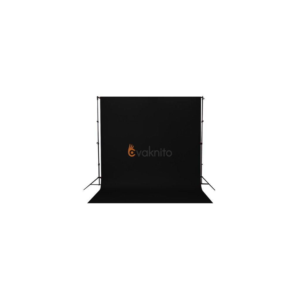 Konštrukcia + papierové fotopozadie 1,36x5,5m čierne