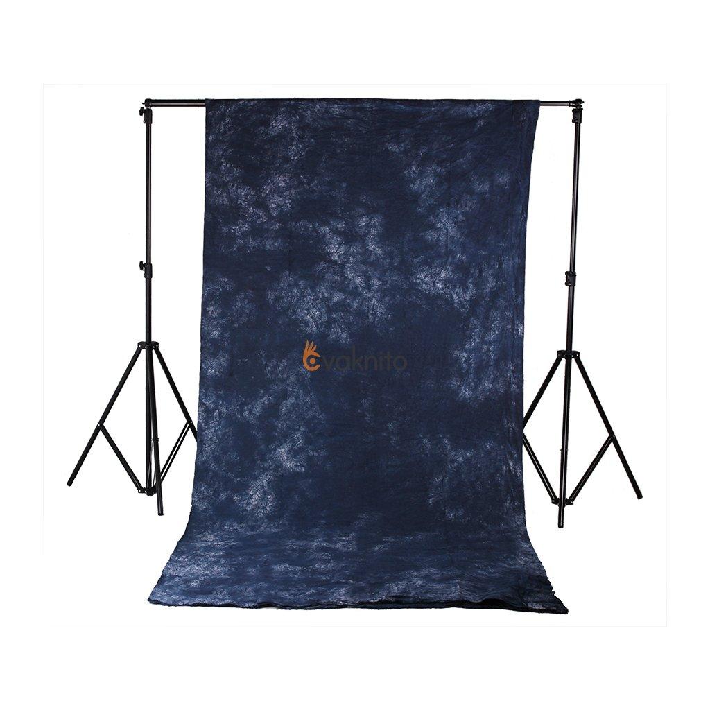 batikovaná tmavo modrá