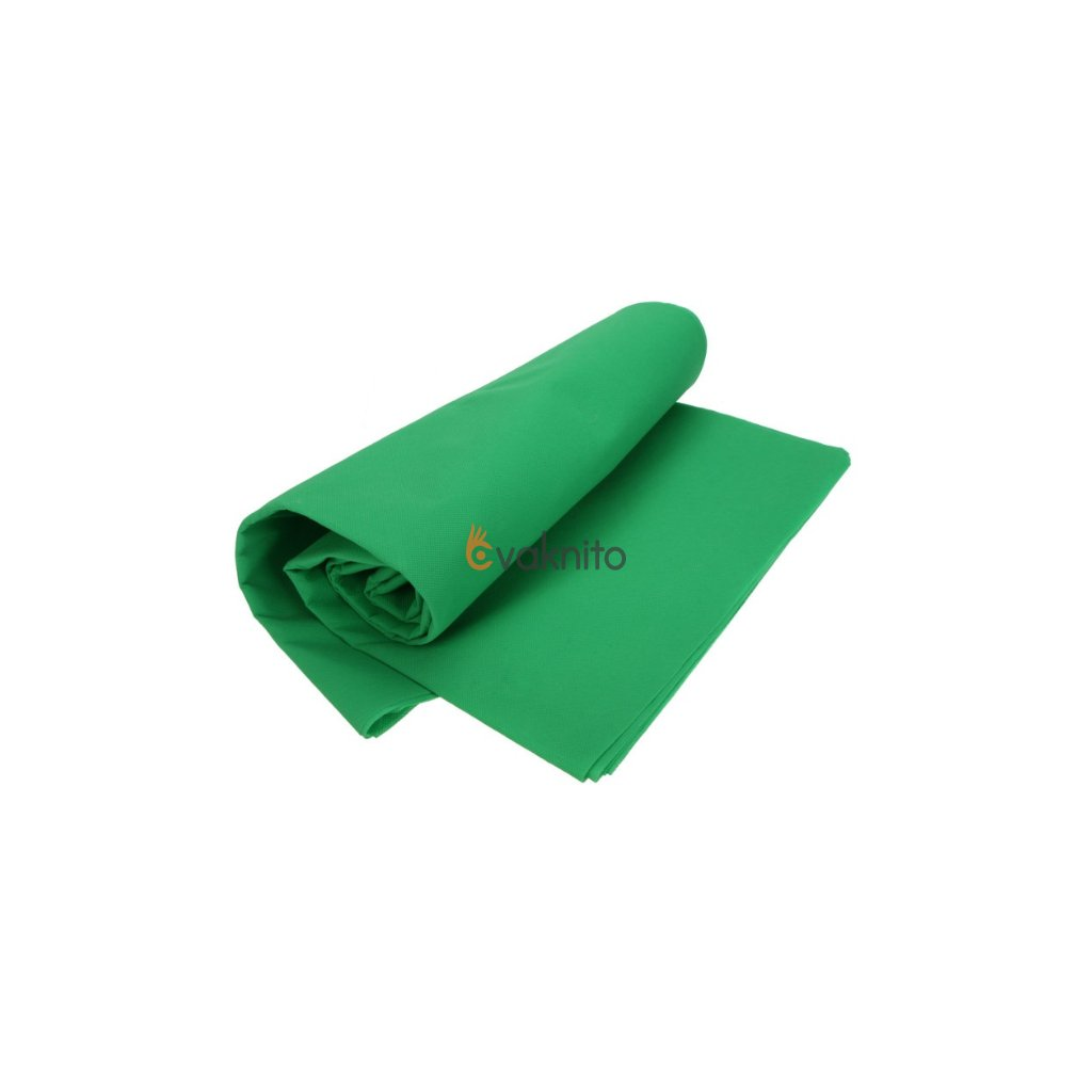 Textílne fotografické pozadie 3x9m zelené (green screen)