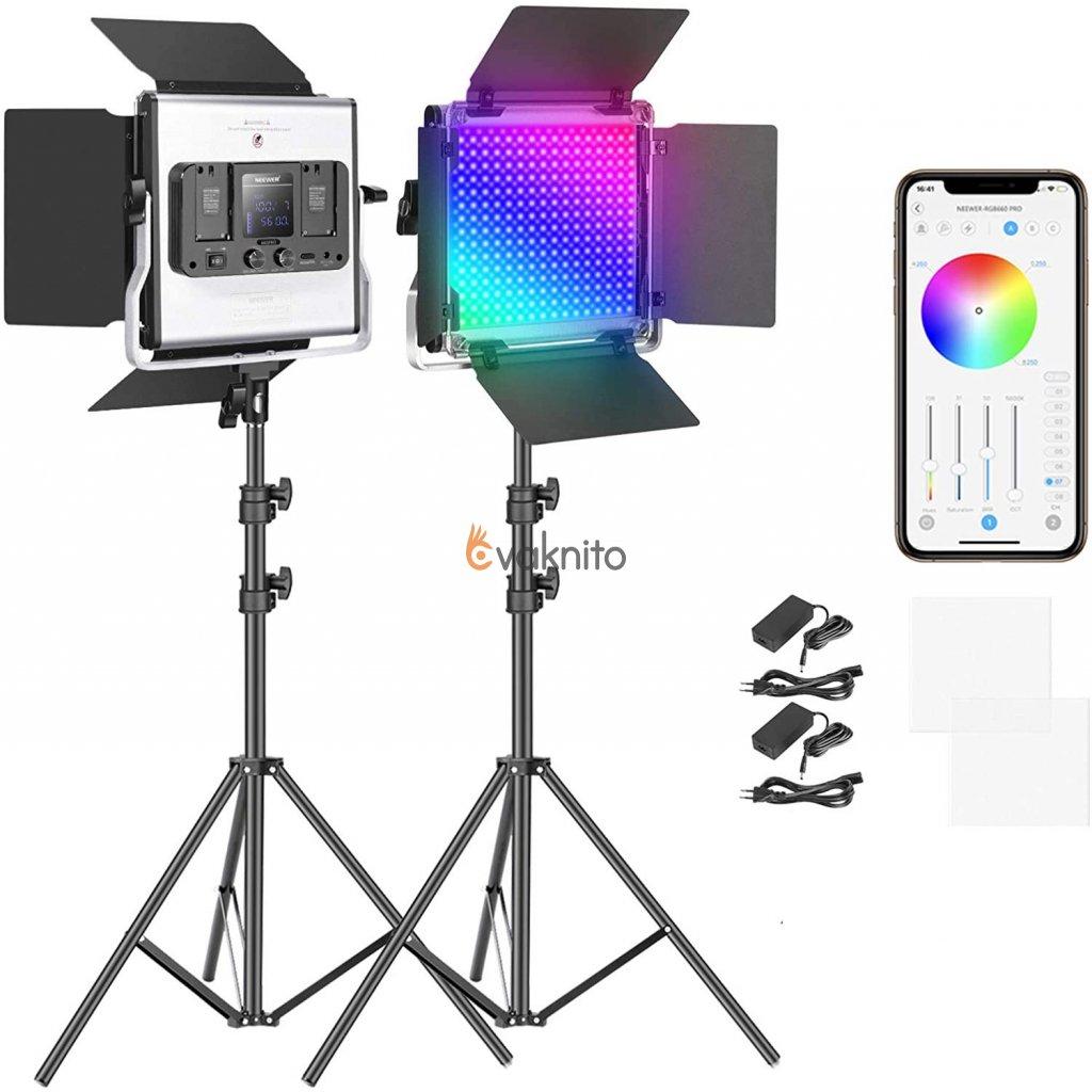 RGB LED svetlo - 360° plnofarebné 50W 660 Pro video CRI 97