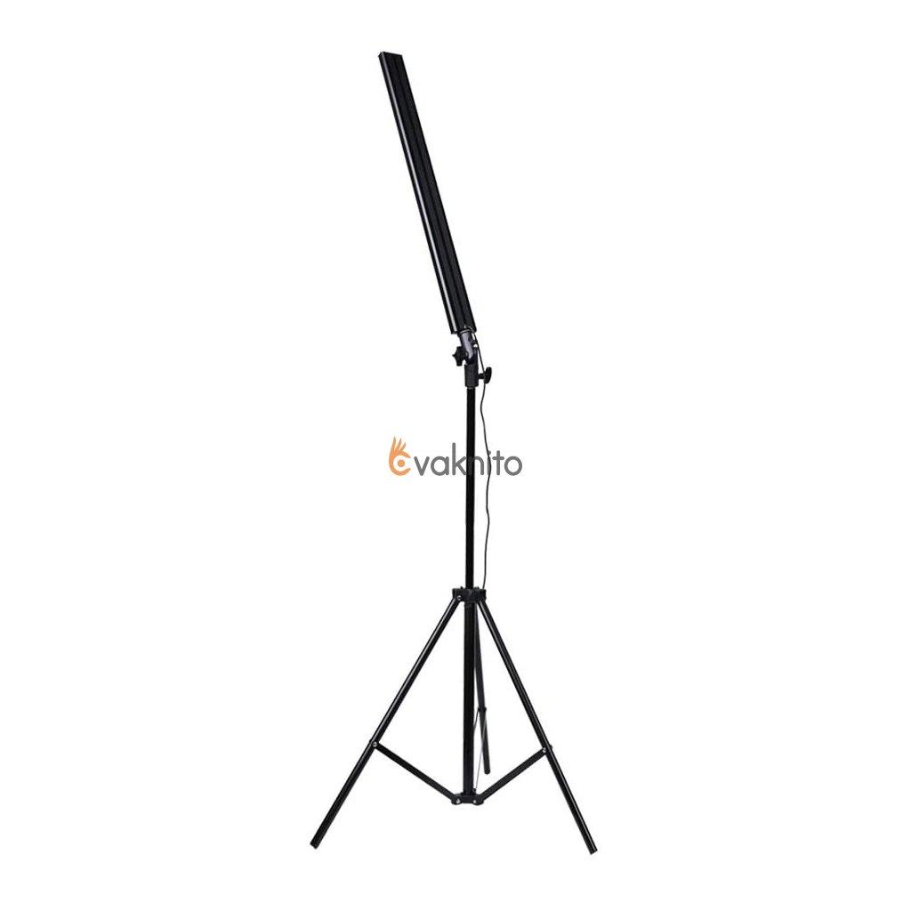 Fotografická trojfarebná stmievateľná LED lampa so stojanom (2m)