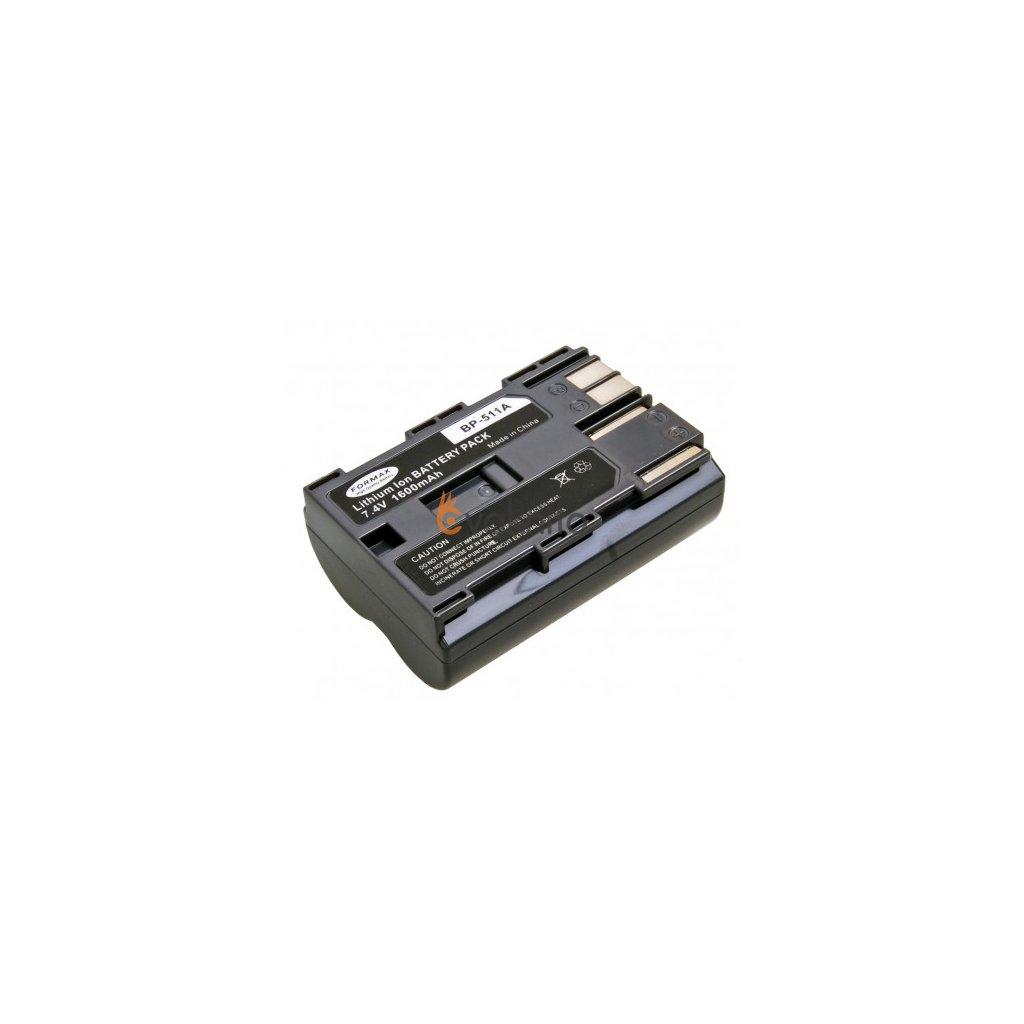 Batéria BP-511, BP-511A pre fotoaparáty CANON 1600mAh