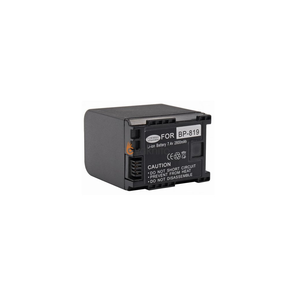 Batéria BP-819 pre fotoaparáty Canon 2800mAh